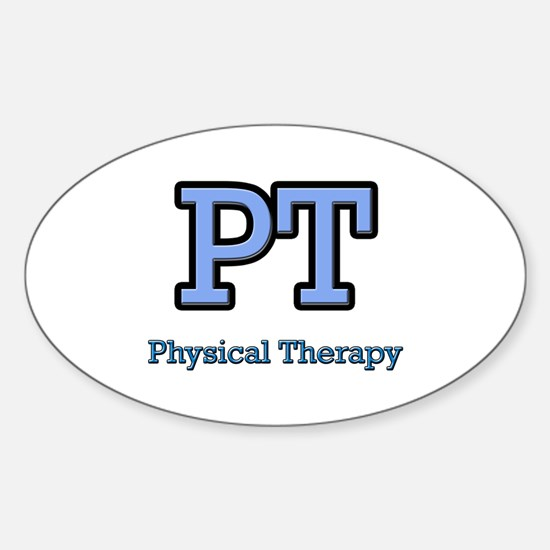 Physical Therapy Oval Decal