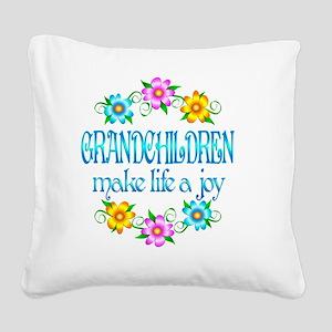 GRANDCHILDREN Square Canvas Pillow