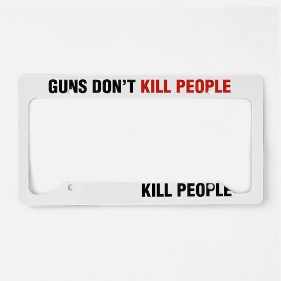 pro gun humor License Plate Holder