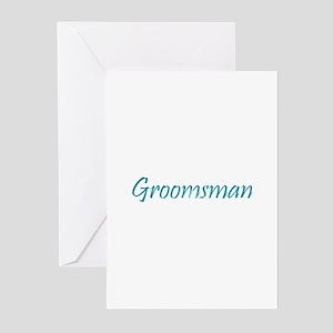 Groomsman - Sea Blue Greeting Cards (Pk of 10)