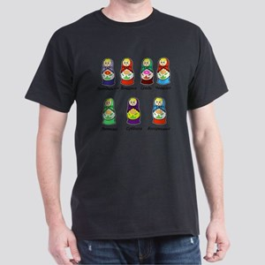Russian Days of the Week Dark T-Shirt