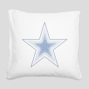 artsy blue star Square Canvas Pillow