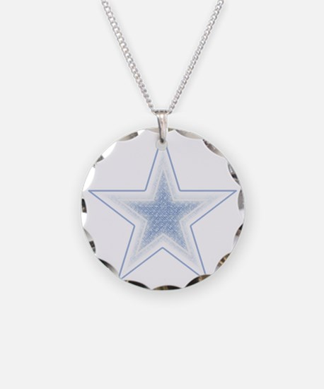 artsy blue star Necklace