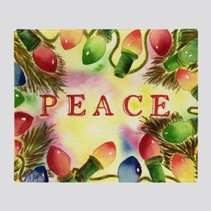 Peace--Let our peace shine through d Throw Blanket