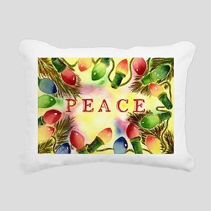 Peace--Let our peace shi Rectangular Canvas Pillow