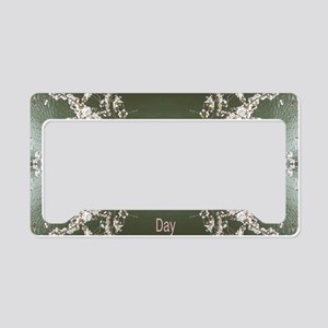Cherry Blossom Valentines Day License Plate Holder