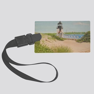 Brandt Point Lighthouse - Nantuc Large Luggage Tag