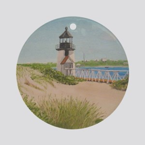 Brandt Point Lighthouse - Nantucket Round Ornament