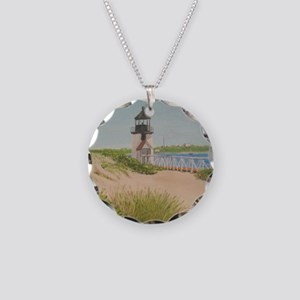 Brandt Point Lighthouse - Na Necklace Circle Charm