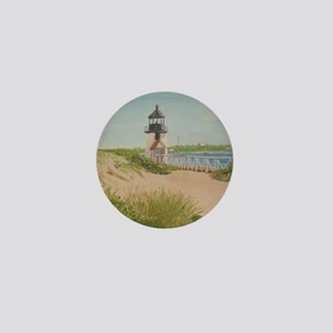 Brandt Point Lighthouse - Nantucket Mini Button
