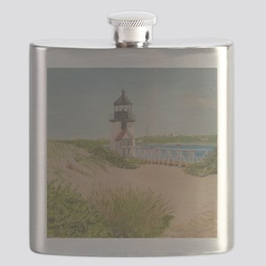 Brandt Point Lighthouse - Nantucket Flask