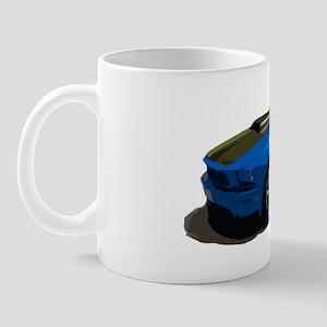mustang drawing blue Mug