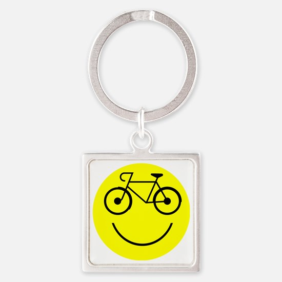 Cycle_Smile Square Keychain