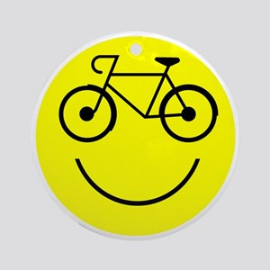 Cycle_Smile Round Ornament
