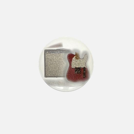 guitar and amp mosaic Mini Button