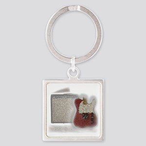guitar and amp mosaic Square Keychain