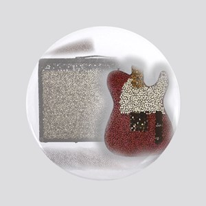 "guitar and amp mosaic 3.5"" Button"