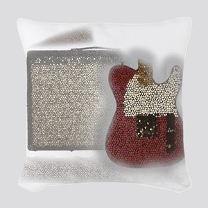 guitar and amp mosaic Woven Throw Pillow
