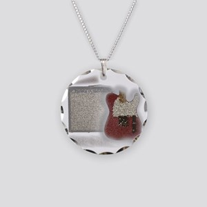 guitar and amp mosaic Necklace Circle Charm