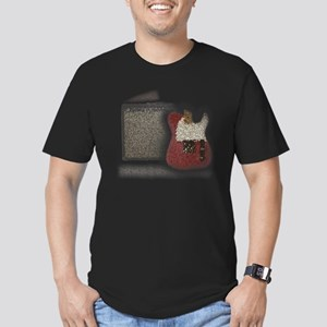 guitar and amp mosaic Men's Fitted T-Shirt (dark)