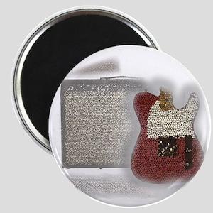 guitar and amp mosaic Magnet