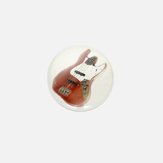 jazz bass distressed red Mini Button