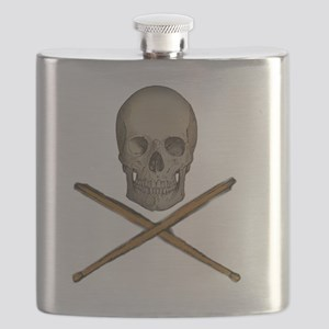 skull and stick bones Flask