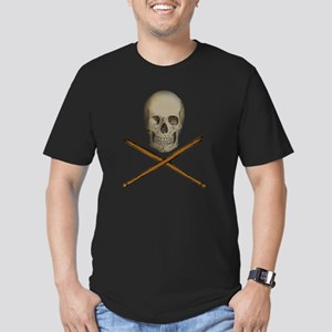 skull and stick bones Men's Fitted T-Shirt (dark)