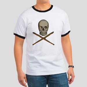 skull and stick bones Ringer T