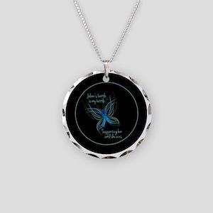 circle-black-06 Necklace Circle Charm