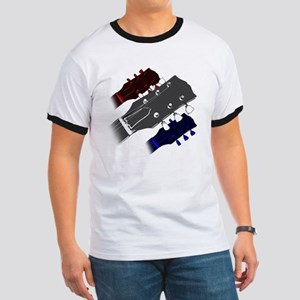 red white and blue headstock Ringer T