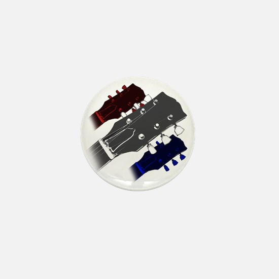 red white and blue headstock Mini Button