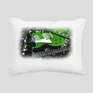 green guitar collection. Rectangular Canvas Pillow