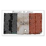 Remember the Alamo Rectangle Sticker