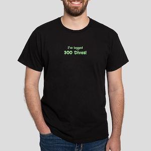 I've logged 300 dives Dark T-Shirt