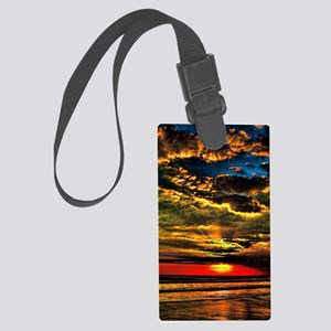 painted bali evening sky  1 Large Luggage Tag
