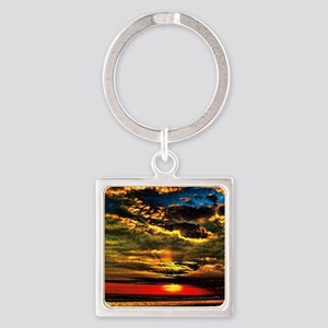 painted bali evening sky  1 Square Keychain