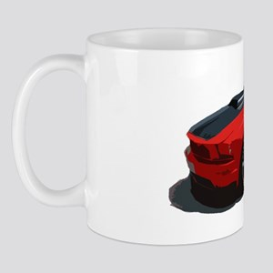 mustang drawing red Mug