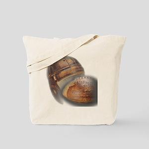 vintage football helmet Tote Bag