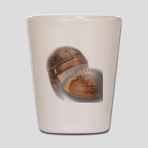 vintage football helmet Shot Glass