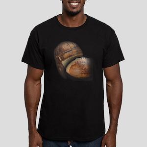 vintage football helme Men's Fitted T-Shirt (dark)