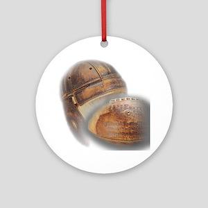 vintage football helmet Round Ornament