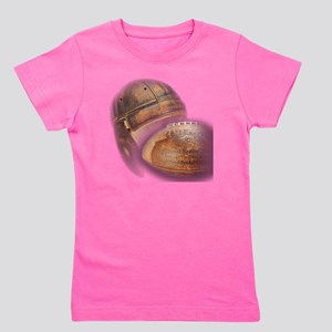vintage football helmet Girl's Tee