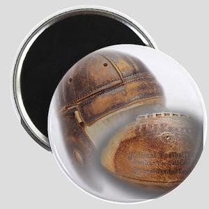 vintage football helmet Magnet
