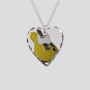 tele yellow Necklace Heart Charm