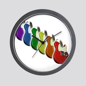 Rainbow Guitar Tee Wall Clock