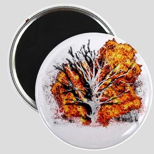 burning tree Magnet