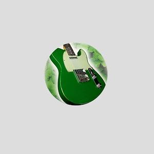 saint patricks day guitar Mini Button