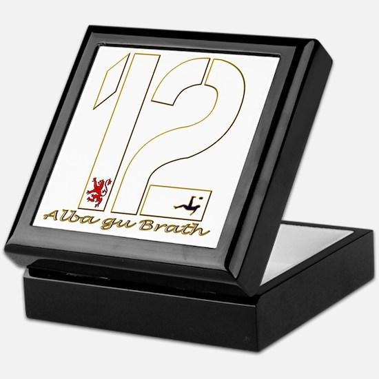 Scotland number 12 white and gold foo Keepsake Box