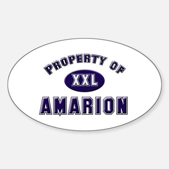 Property of amarion Oval Decal
